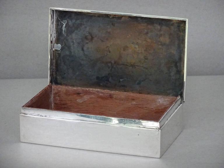 American Tiffany & Co. Sterling Silver Cigarette Box For Sale