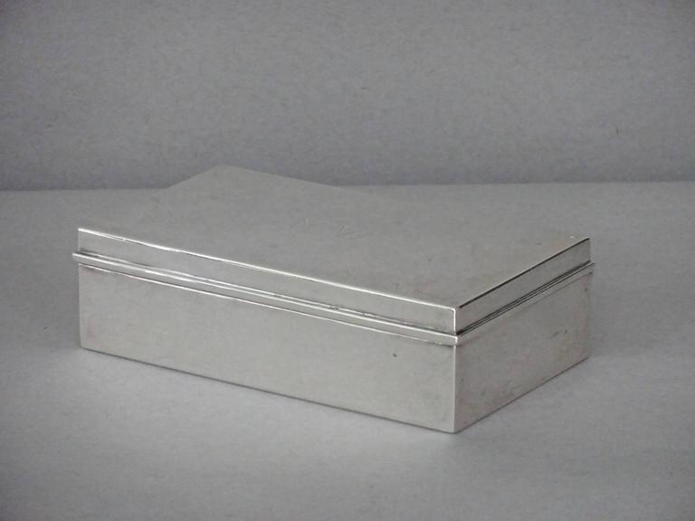 Tiffany & Co. Sterling Silver Cigarette Box For Sale 2