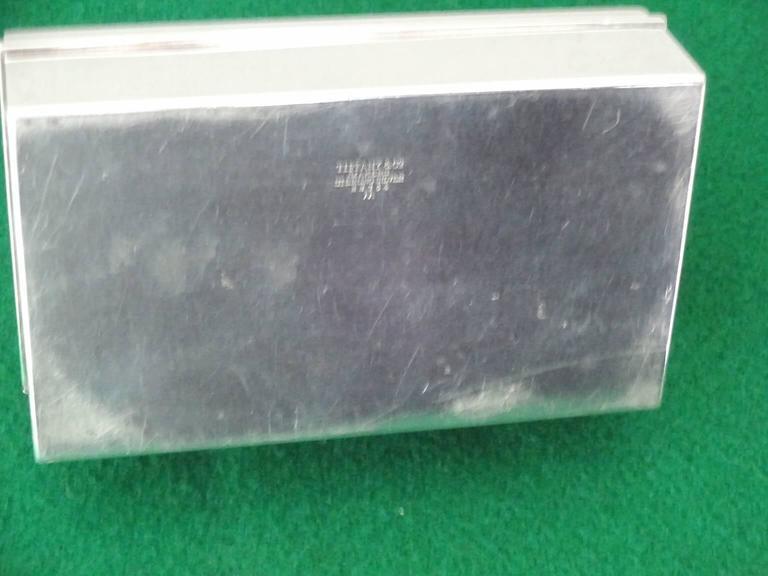 Tiffany & Co. Sterling Silver Cigarette Box For Sale 3