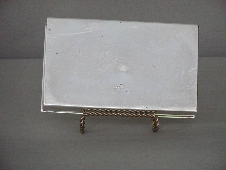 Handsome sterling silver Tiffany & Company cigarette box. Monogrammed