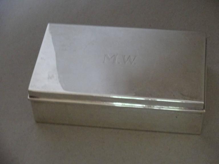 Mid-20th Century Tiffany & Co. Sterling Silver Cigarette Box For Sale