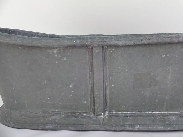 19th century zinc baby bathtub for sale at 1stdibs for European steel enamel bathtub