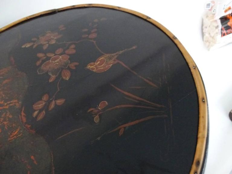 Bamboo Lacquer and Japan Bamboo Side Table In Excellent Condition For Sale In Hudson, NY