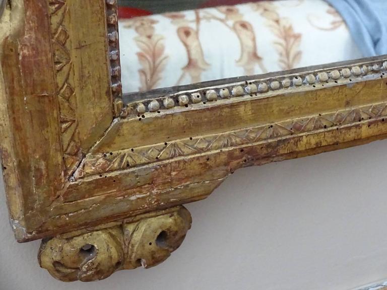 European Louis XVI Style Giltwood Mirror For Sale