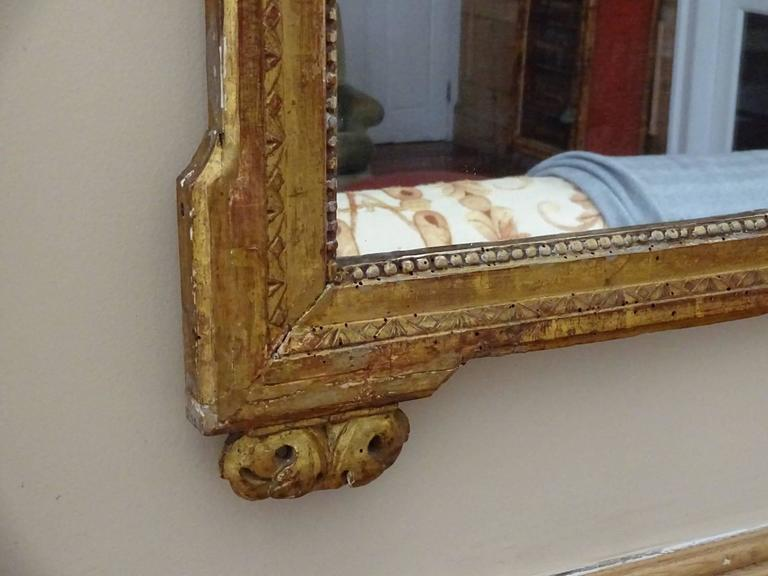 Louis XVI Style Giltwood Mirror In Good Condition For Sale In Hudson, NY