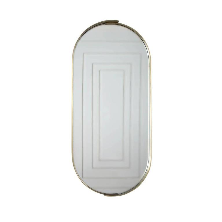 Alta Racetrack Mirror by Kelly Wearstler For Sale