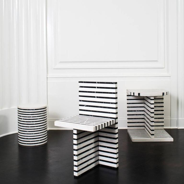 Lineage Stool by Kelly Wearstler In Excellent Condition For Sale In West Hollywood, CA