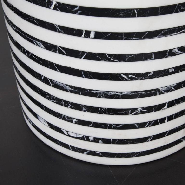 Marble Lineage Stool by Kelly Wearstler For Sale
