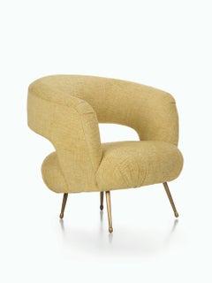 Laurel Lounge Chair in Woodbury Lemongrass