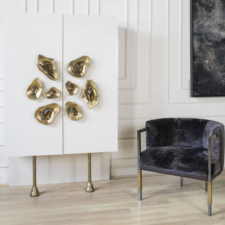 Drawing Upon Kelly S Love Of Mixed Metals The Elegant And Soulful Larchmont Chair Features A