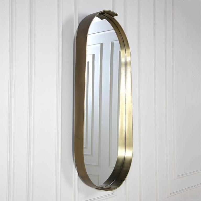 Alta Racetrack Mirror by Kelly Wearstler In Excellent Condition For Sale In West Hollywood, CA