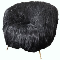 Souffle Chair in Goat Fur