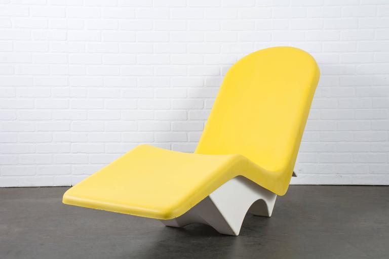 Mid Century Modern Le Barron Fibrella Outdoor Chaise