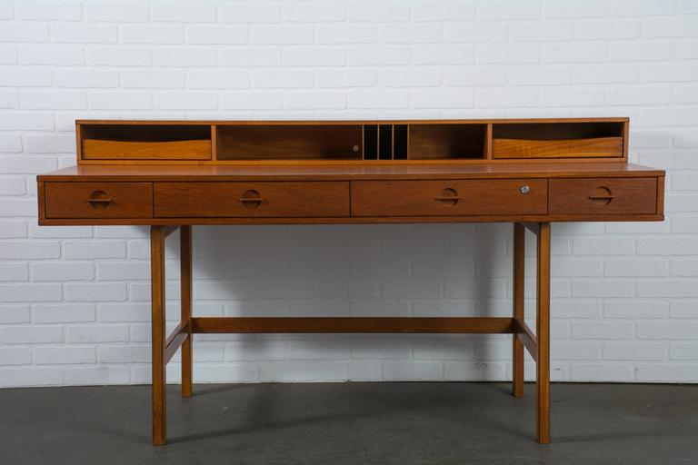 Danish Modern Teak Partners Desk By Peter Lovig Nielsen At