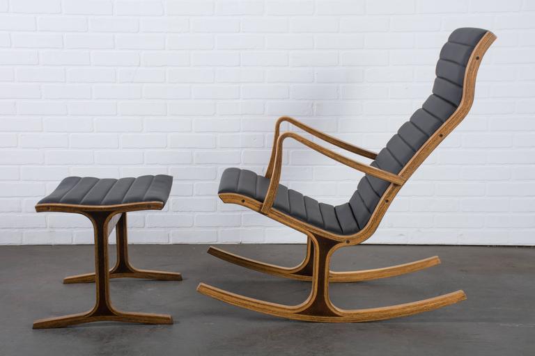 Mid Century Heron Rocking Chair By Mitsumasa Sugasawa For