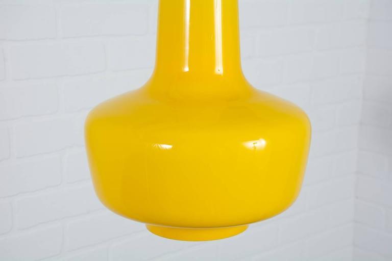Jacob E. Bang Yellow 'Kreta' Pendant Lamp, Denmark, 1960s 2
