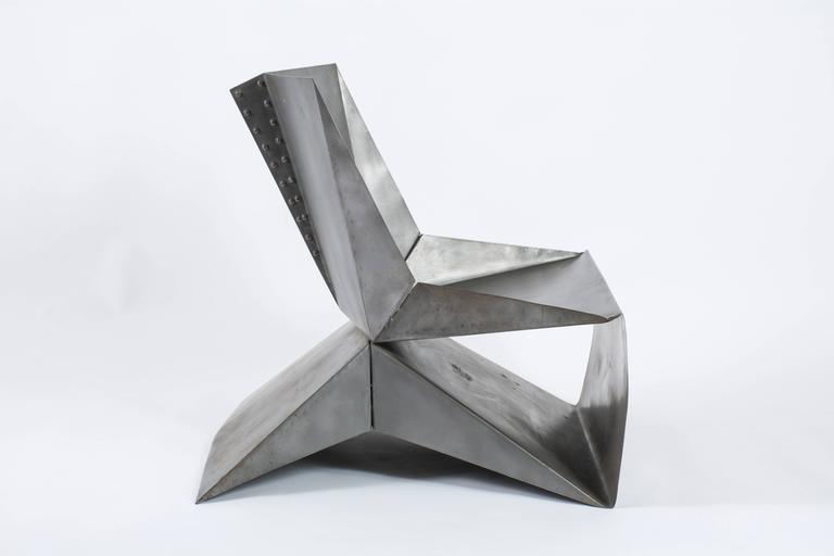 Origami Steel Chair By Brian O Neill At 1stdibs