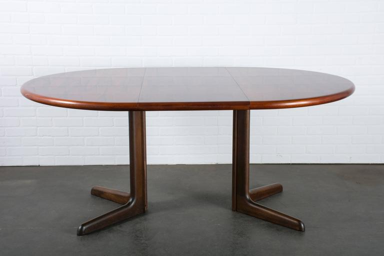 Danish Modern Rosewood Dining Table With Leaves By Gudme