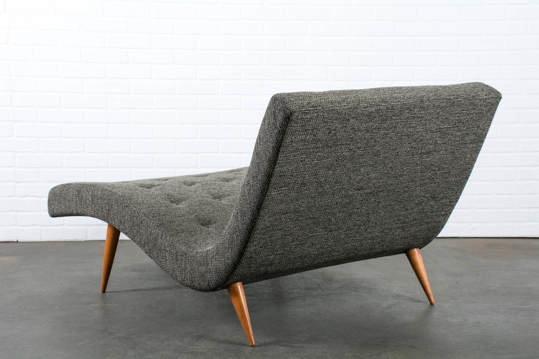 vintage mid century chaise longue at 1stdibs. Black Bedroom Furniture Sets. Home Design Ideas