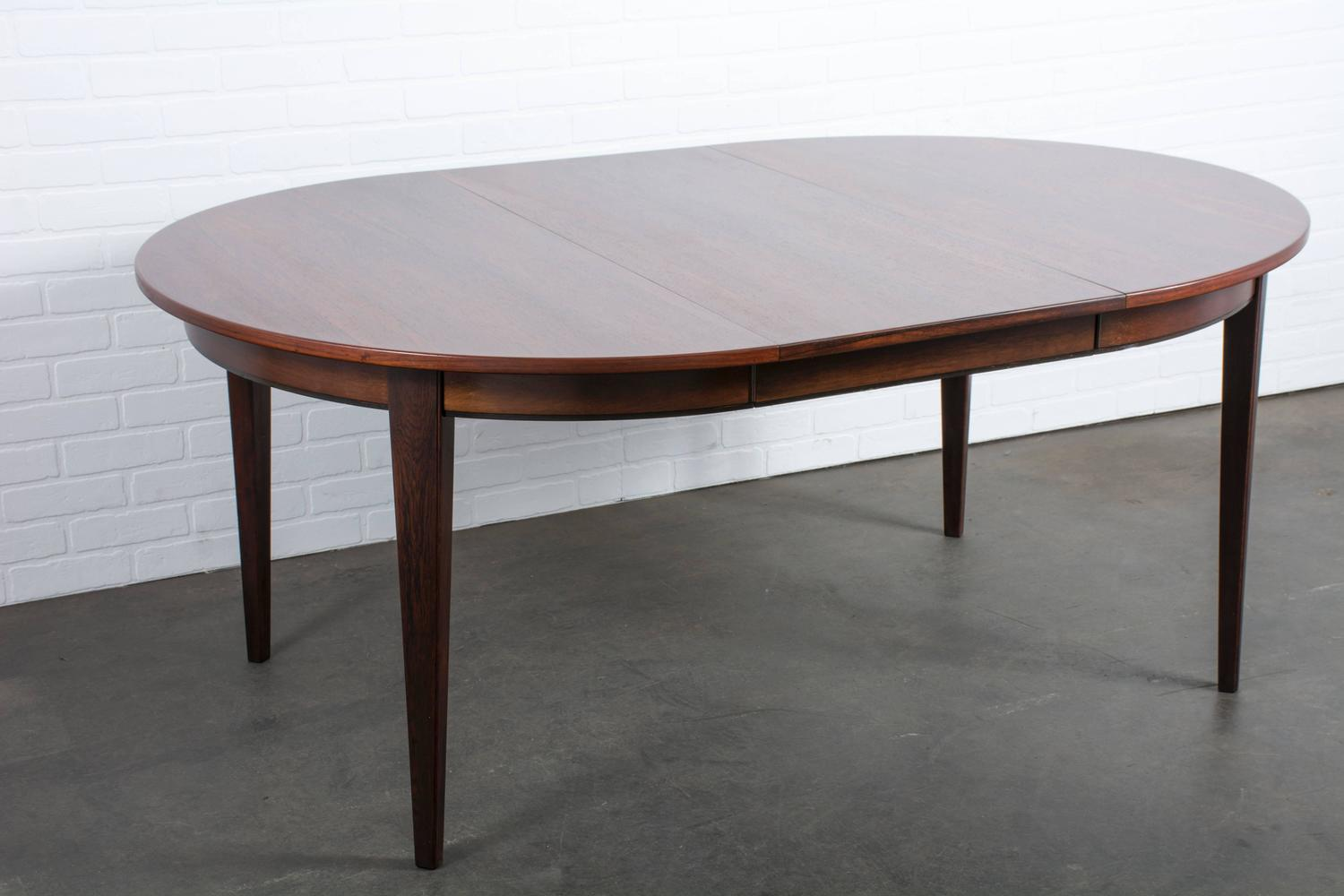 Modern Dining Table With Leaf Large Modern Draw Leaf