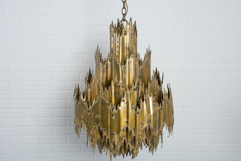 Tom Greene Brutalist Chandelier, 1960's 4