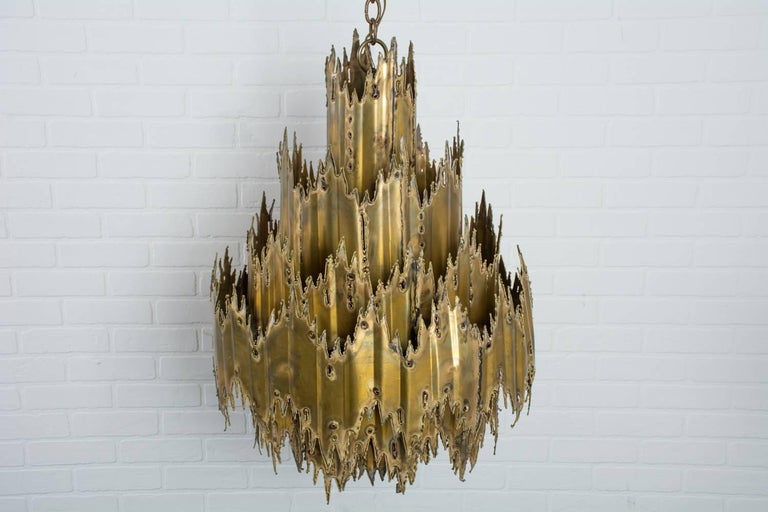 Tom Greene Brutalist Chandelier, 1960's 5
