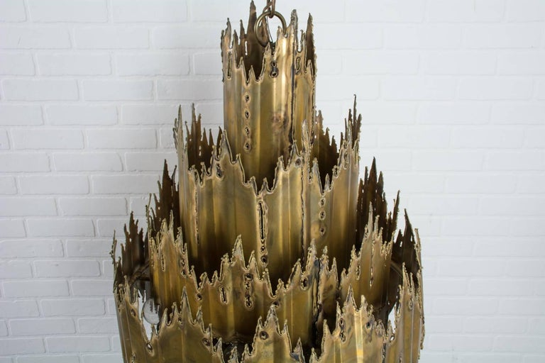Tom Greene Brutalist Chandelier, 1960's 7