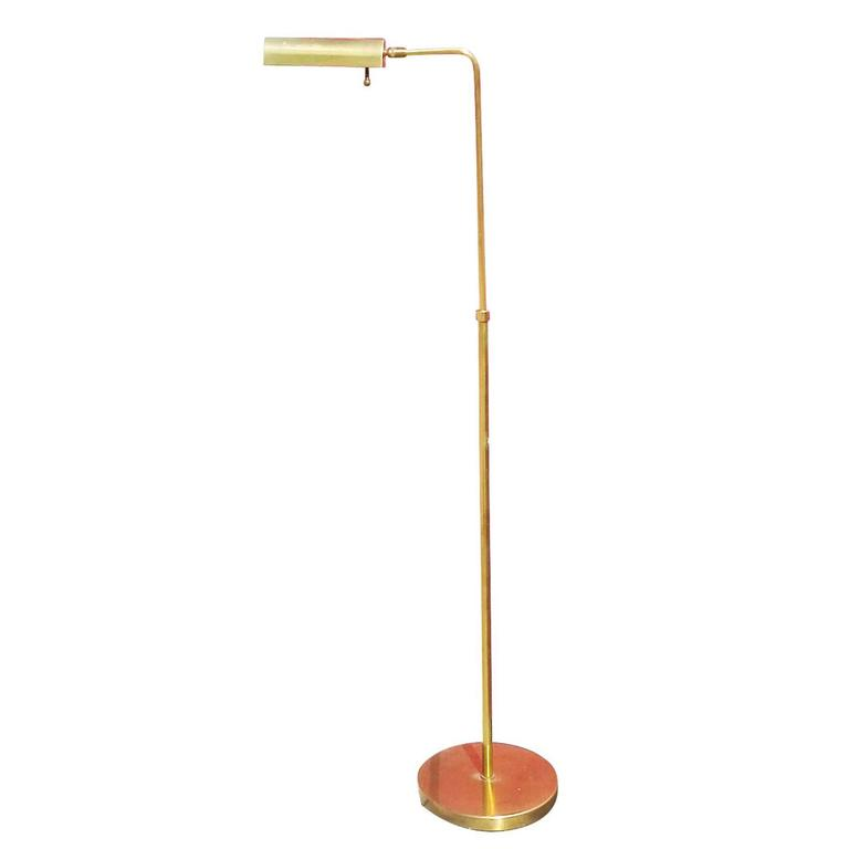 Adjustable Brass Cylinder Form Floor Lamp by Chapman
