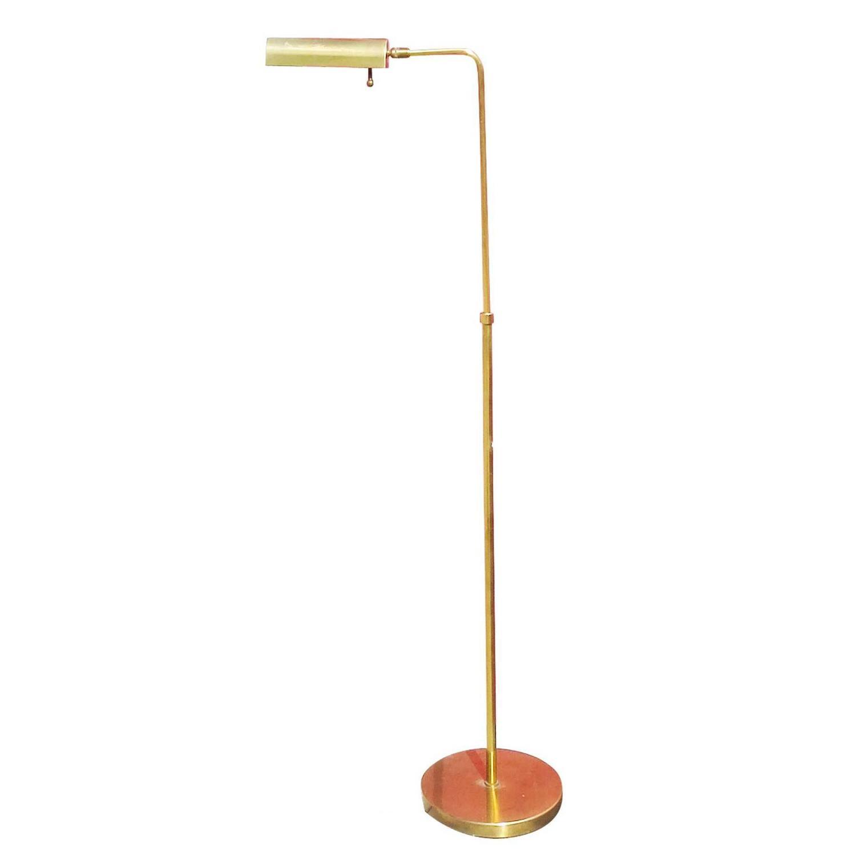 Adjustable brass cylinder form floor lamp by chapman for for Floor lamp with cylinder shade
