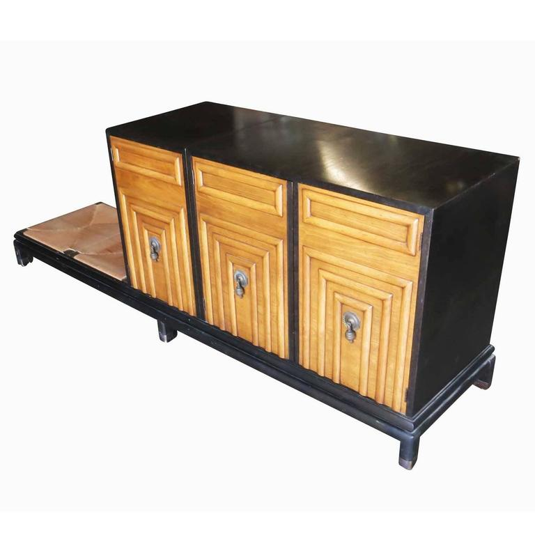 Renzo Rutili Storage Cabinet with Bench for Johnson Furniture 3