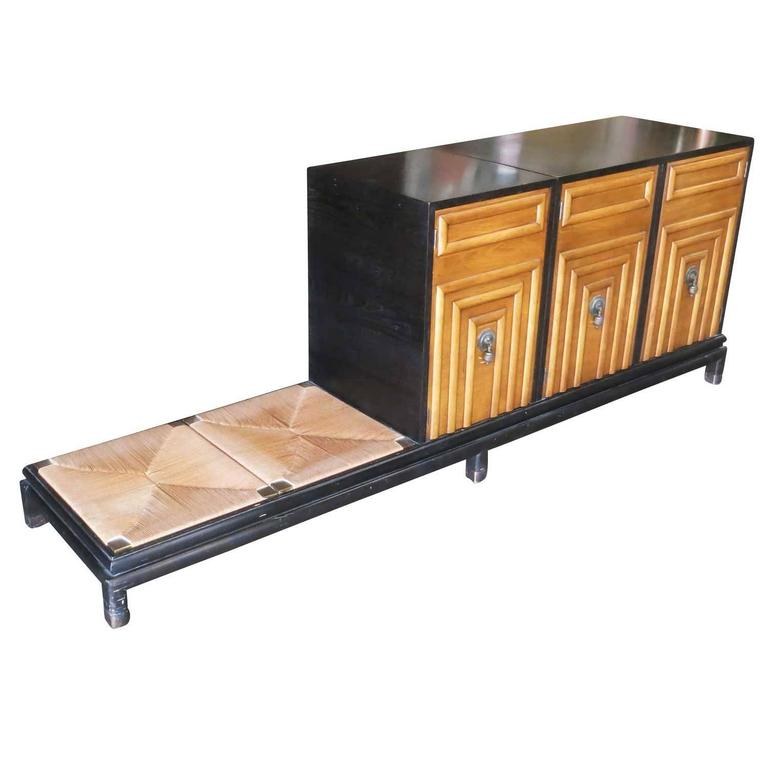 Renzo Rutili Storage Cabinet with Bench for Johnson Furniture 2