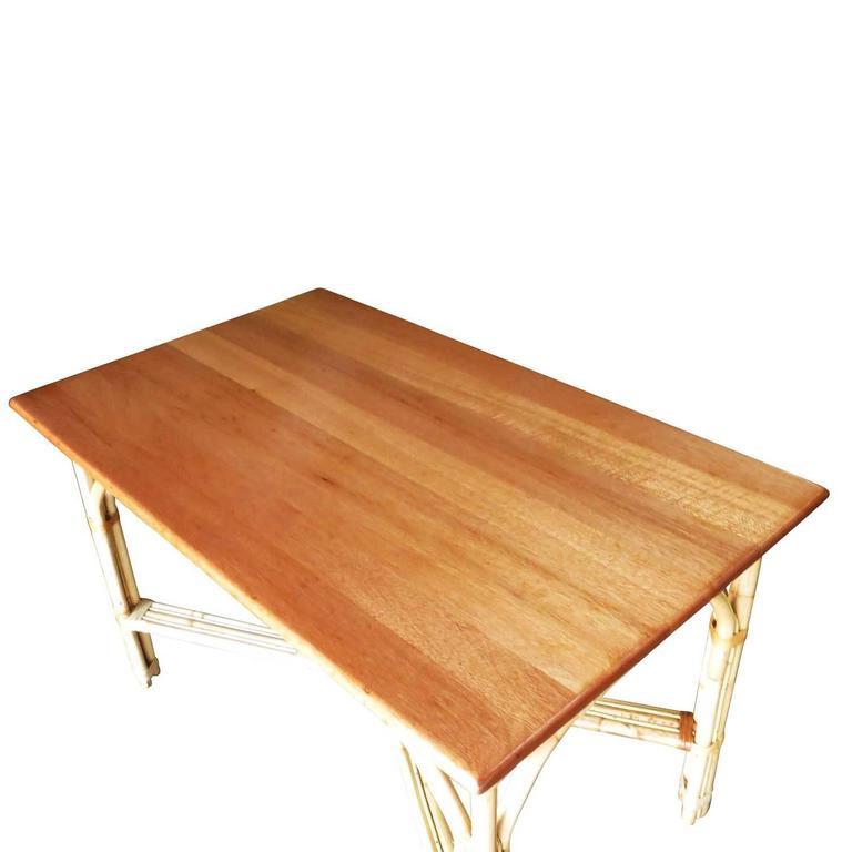 Restored Mid-Century Rattan and Mahogany Dining Set  ** Saturday Sale** 5