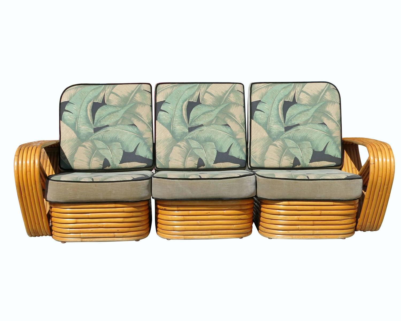 Paul Frankl Sofa ~ Paul frankl style six strand square pretzel sofa