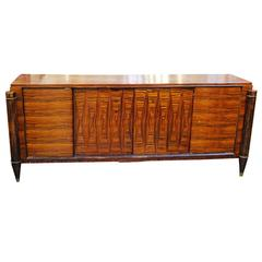 French High Style Art Deco Macassar Ebony Credenza