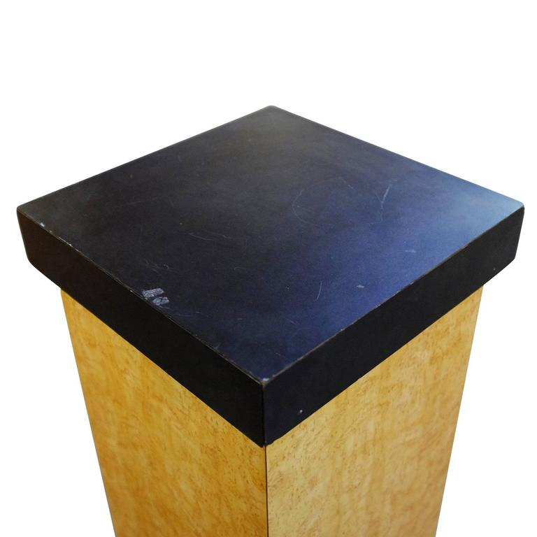 Art Deco Bird's-Eye Maple Pedestal with Black Top For Sale ...