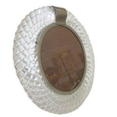 Handblown Murano Glass Frame or Vanity Mirror by Seguso