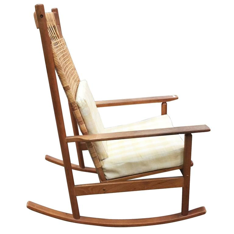 Rare Danish Modern Rocking Chair Designed By Hans Olsen For Juul  Kristiansen In 1958. The