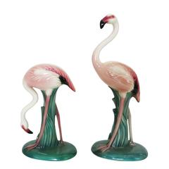 California Pottery Small Flamingo Statue Pair by Will-George
