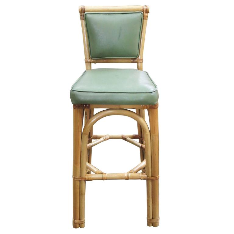 rattan bar stools with backs restored rattan bar stool pair with vinyl seat backs set 7628