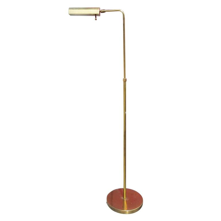 Cylinder form brass reading floor lamp by casella for sale for Floor lamp with cylinder shade