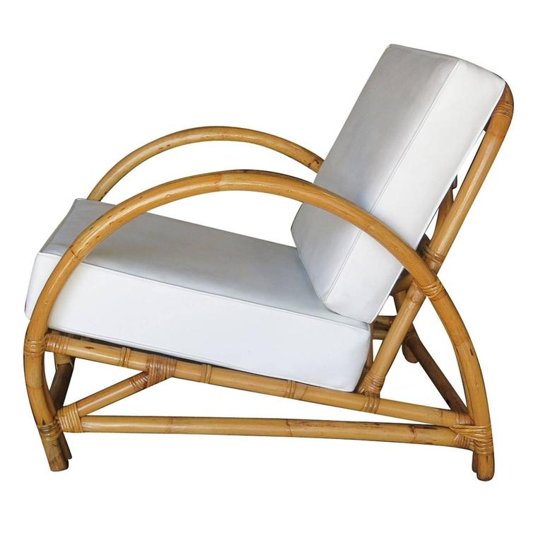 Restored Arch Deluxe Rattan Two Strand Lounge Chair