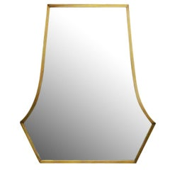 Large Art Deco Styled High Style Bronze Vanity Mirror