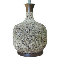 Milo Baughman-Style Cork Table Lamp