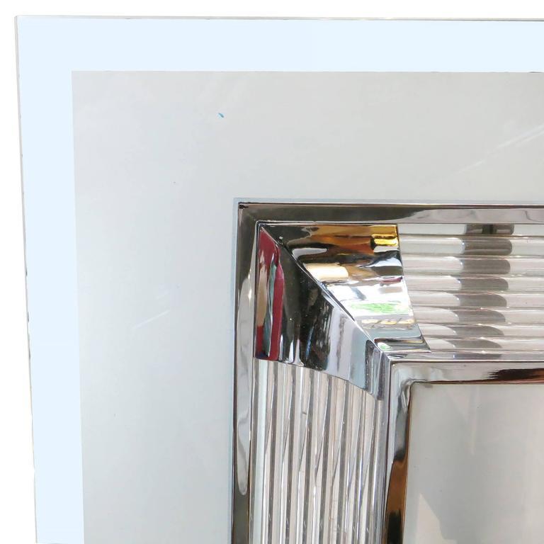 Steel French Art Deco Glass Rod Chandelier by Atelier Petitot  For Sale