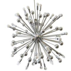 Mid-Century Style Chrome Multi-Light Sputnik Chandelier