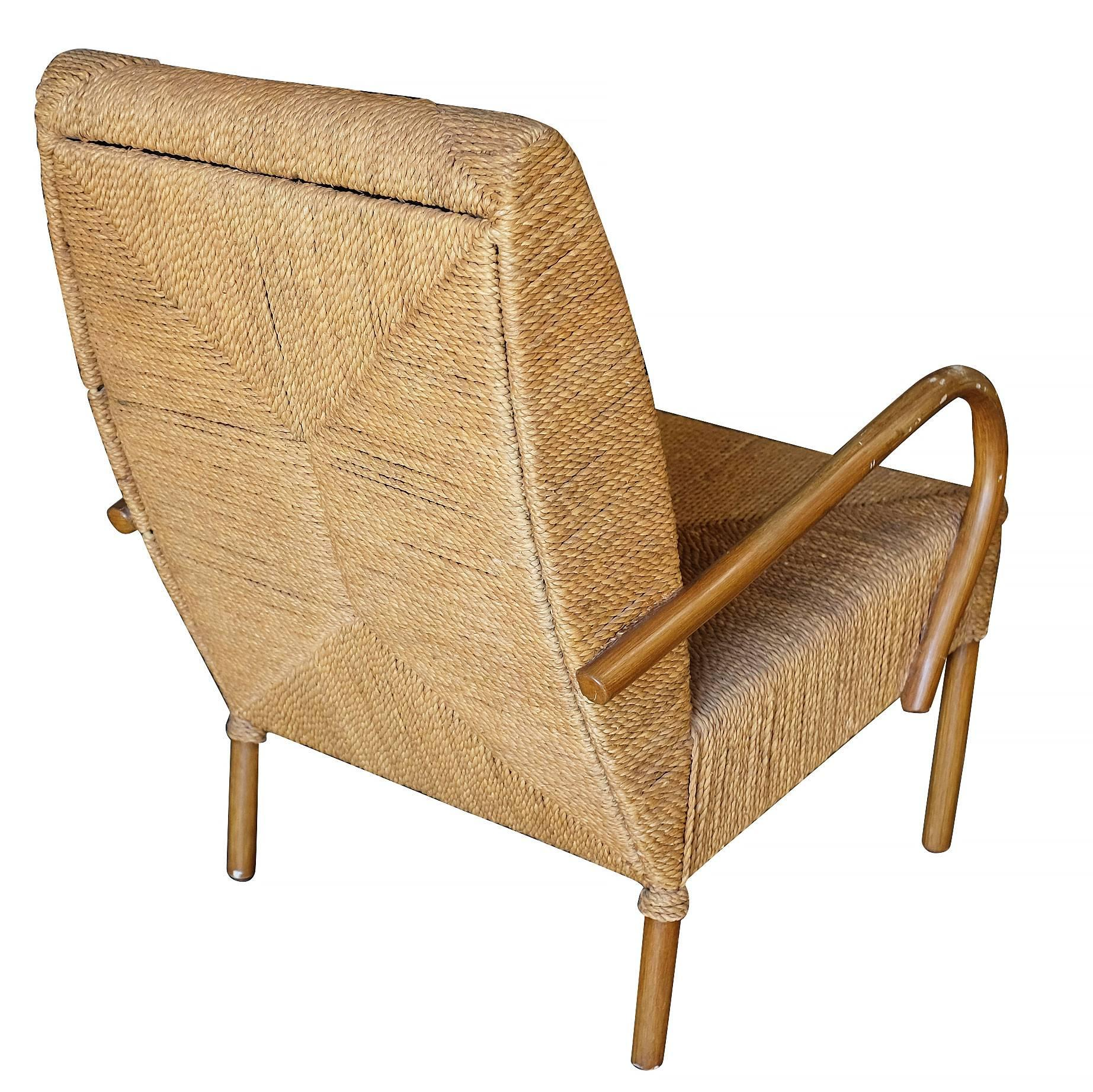 Big Wicker Chair Large Wicker Seat Lounge Chair For Sale At 1stdibs