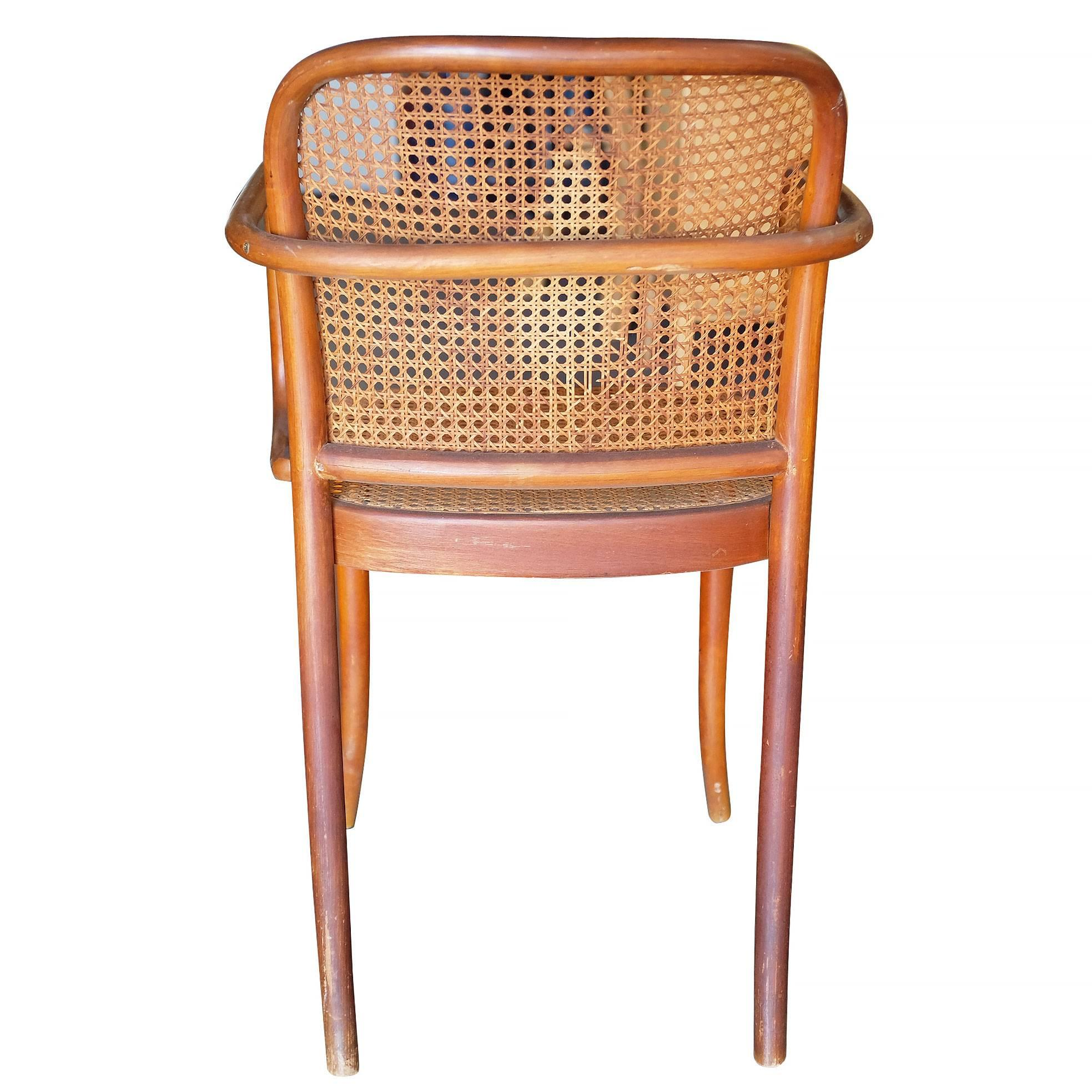 Delightful Early 20th Century Josef Hoffmann No 811 Bentwood Cane Chair By Thonet, Set  Of Four