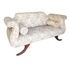Duncan Phyfe Style Love Seat Settee with Scrolling Arms **Saturday Sale**