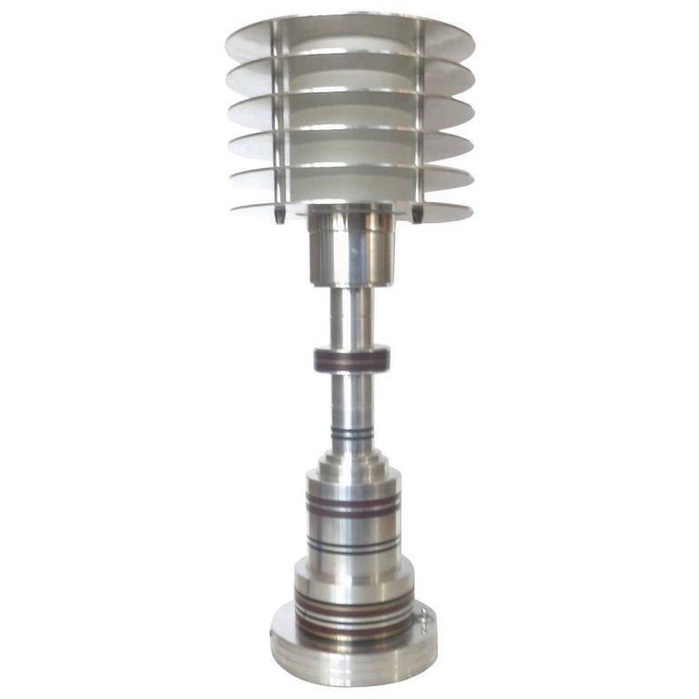 Machine Age Table Lamp in the Manner of Walter Von Nessen