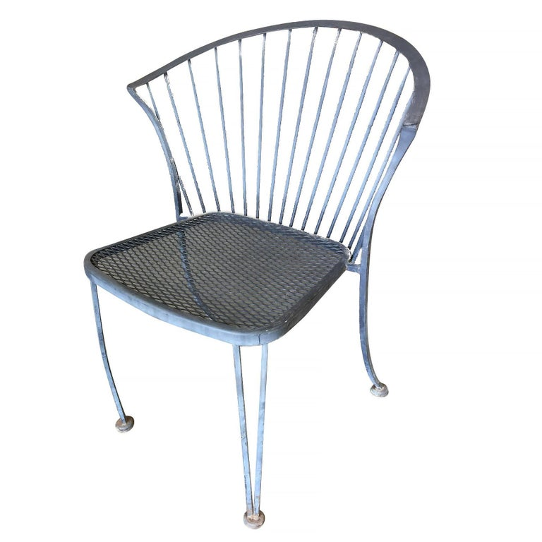 Woodard Pinecrest Wrought Iron Patio/Outdoor Lounge Chair, Set of Four 4
